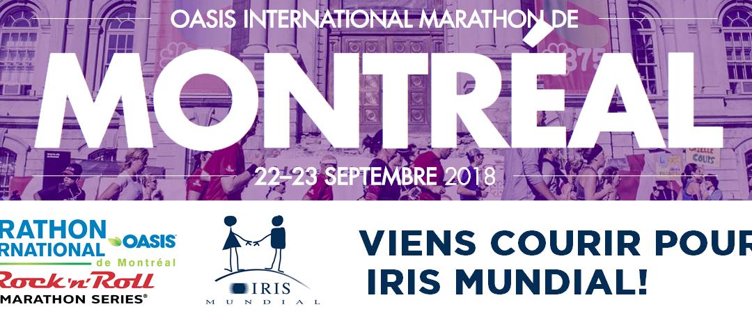 Participer au marathon international oasis de Montréal au profit d'IRIS Mundial !